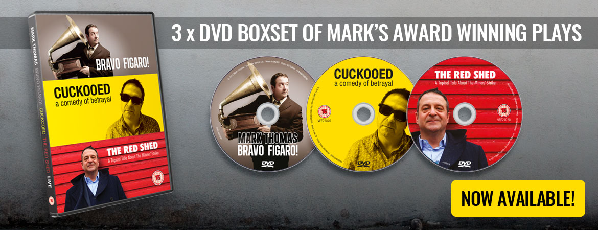 3 DVD Box-set of Mark's Award Winning Plays: Bravo Figaro! Cuckooed and The Red Shed